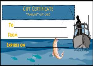 14 Free Printable Fishing Gift Certificate Templates [Best intended for Fishing Gift Certificate Editable Templates