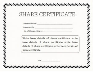 14+ Share Certificate Templates | Free Word & Pdf Samples with regard to Share Certificate Template Australia