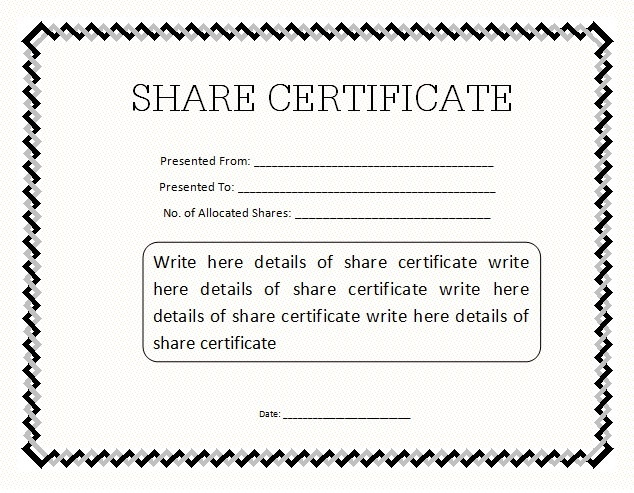 14+ Share Certificate Templates   Free Word & Pdf Samples with regard to Share Certificate Template Australia