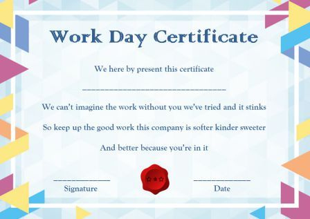 15 +Bring Your Child To Work Day Certificates: Easy To Print inside Certificate For Take Your Child To Work Day