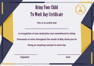 15 +Bring Your Child To Work Day Certificates: Easy To Print Regarding Best Certificate For Take Your Child To Work Day