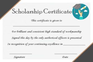15+ College Scholarship Certificate Templates For Students throughout Scholarship Certificate Template