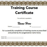 15 Training Certificate Templates – Free Download With Template For Training Certificate