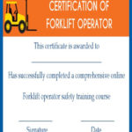 15+Forklift Certification Card Template For Training In Best Forklift Certification Template