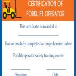 15+Forklift Certification Card Template For Training In Best Forklift Certification Template