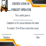 15+Forklift Certification Card Template For Training Inside Forklift Certification Template