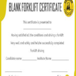 15+Forklift Certification Card Template For Training Intended For Best Forklift Certification Template
