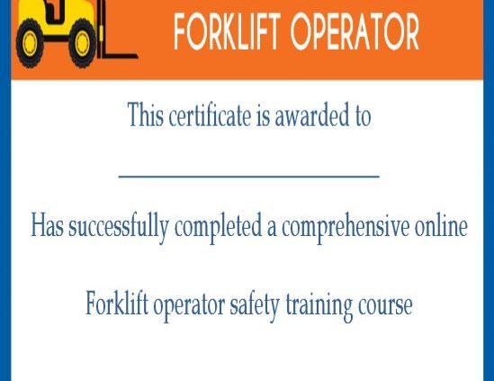 15+Forklift Certification Card Template For Training Pertaining To Best Forklift Certification Template
