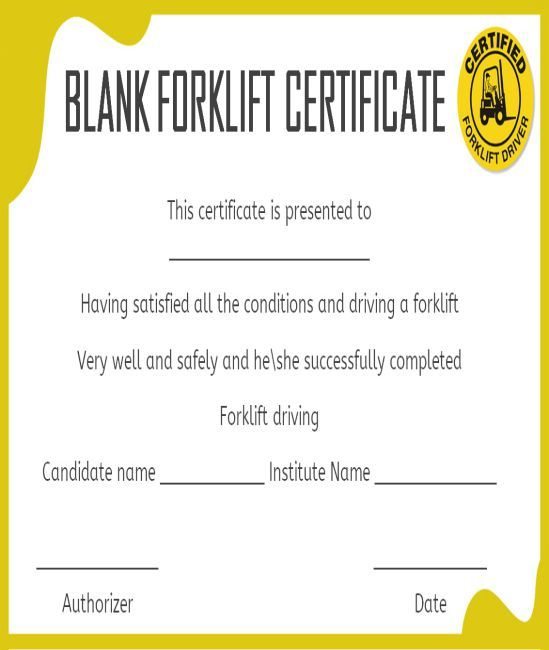 15+Forklift Certification Card Template For Training regarding Forklift Certification Card Template