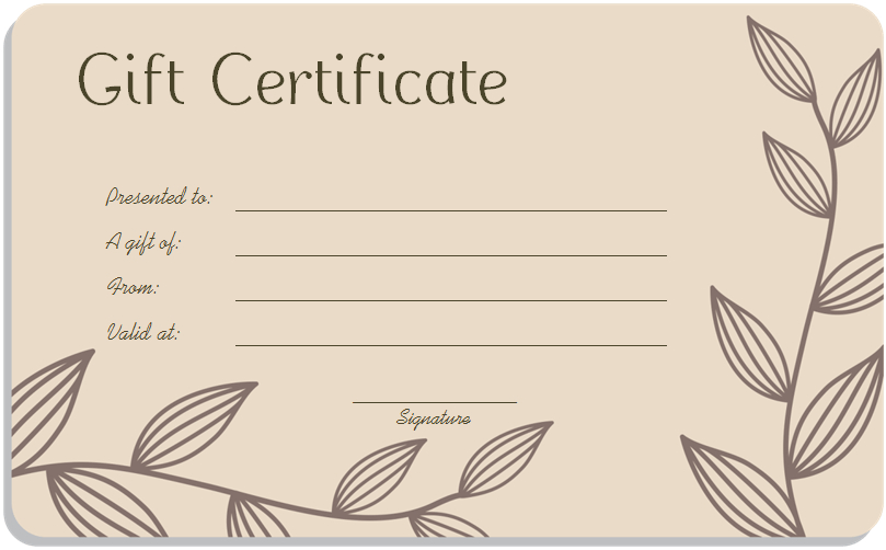 16+ Free Gift Certificate Templates & Examples - Word Excel in Printable Gift Certificates Templates Free