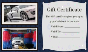 16 Personalized Auto Detailing Gift Certificate Templates with Automotive Gift Certificate Template