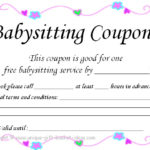 17 Blank Babysitting Card Template Design Images – Printable With Regard To Babysitting Gift Certificate Template
