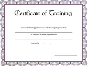 17 Free Training Certificate Templates – Free Word Templates for Quality Training Certificate Template Word Format