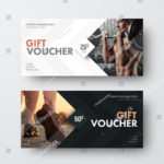 17+ Gym Gift Voucher Templates – Free Photoshop Vector Downloads For Best Free 10 Fitness Gift Certificate Template Ideas