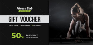17+ Gym Gift Voucher Templates – Free Photoshop Vector Downloads in Editable Fitness Gift Certificate Templates