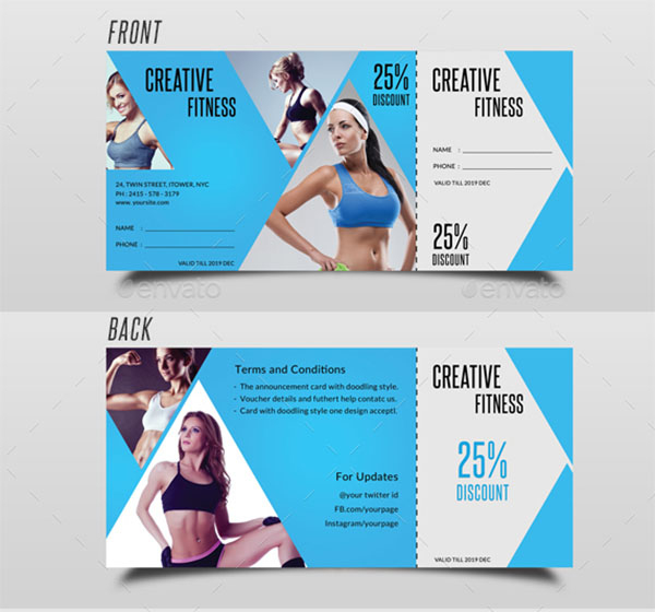 17+ Gym Gift Voucher Templates - Free Photoshop Vector Downloads inside Free 10 Fitness Gift Certificate Template Ideas
