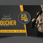 17+ Gym Gift Voucher Templates – Free Photoshop Vector Downloads Within Free 10 Fitness Gift Certificate Template Ideas
