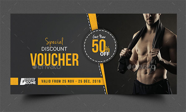 17+ Gym Gift Voucher Templates - Free Photoshop Vector Downloads within Free 10 Fitness Gift Certificate Template Ideas