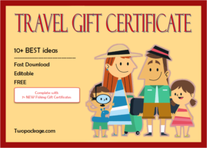 17+ Travel Gift Certificate Template Ideas Free within Unique Fishing Certificates Top 7 Template Designs 2019