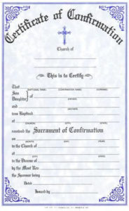 175_Confirmation_Large | Certificate Templates, Catholic for New Roman Catholic Baptism Certificate Template