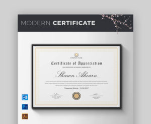 18 Best Free Certificate Templates (Printable Editable with regard to Editable Certificate Of Appreciation Templates