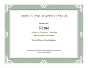 18 Best Free Certificate Templates (Printable Editable with regard to Unique Editable Certificate Of Appreciation Templates