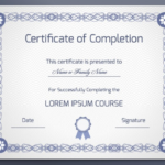 18 Free Certificate Of Completion Templates   Utemplates Throughout Class Completion Certificate Template