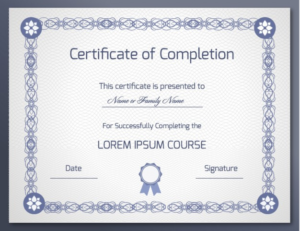 18 Free Certificate Of Completion Templates | Utemplates throughout Class Completion Certificate Template