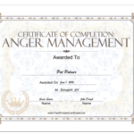 18 Free Certificate Of Completion Templates | Utemplates Within Anger Management Certificate Template