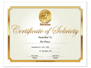 18 Free Certificate Of Completion Templates | Utemplates within Certificate Of Sobriety Template Free