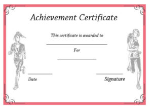 19 Athletic Certificate Templates For Schools & Clubs (Free intended for Athletic Certificate Template