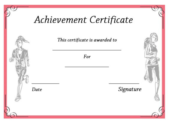 19 Athletic Certificate Templates For Schools & Clubs (Free with New Running Certificates Templates Free