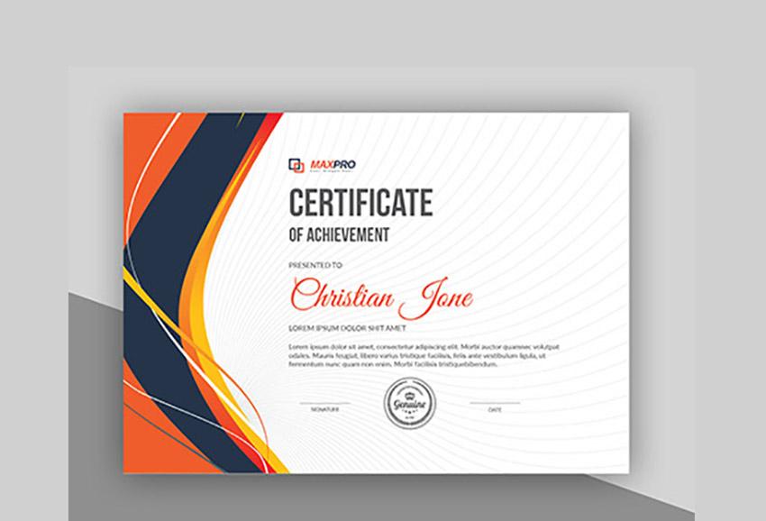 19 Most Creative Certificate Design Templates (Modern Styles in Landscape Certificate Templates