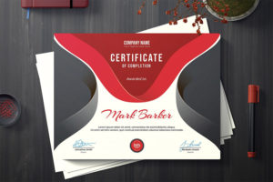 19 Most Creative Certificate Design Templates (Modern Styles with Handwriting Certificate Template 10 Catchy Designs