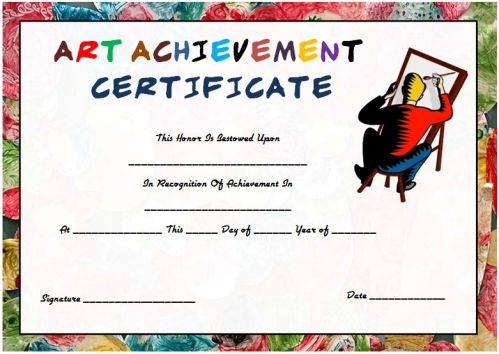 20 Art Certificate Templates (To Reward Immense Talent In in Drawing Competition Certificate Templates