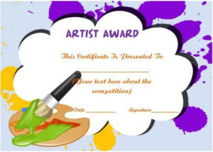 20 Art Certificate Templates (To Reward Immense Talent In pertaining to Baby Shower Winner Certificate Template 7 Ideas