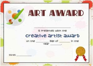20 Art Certificate Templates (To Reward Immense Talent In with Art Certificate Template Free