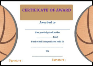 20+ Basketball Camp Certificates That Will Make Your Team in Basketball Camp Certificate Template