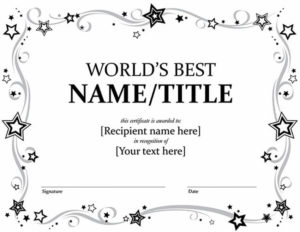 20 Best Free Microsoft Word Certificate Templates (Downloads pertaining to Free Certificate Templates For Word 2007