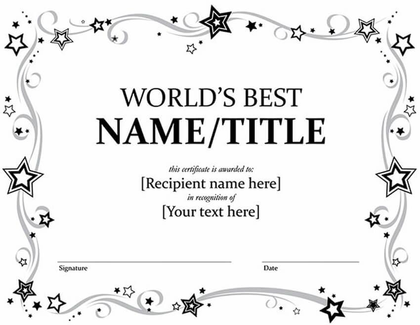 20 Best Free Microsoft Word Certificate Templates (Downloads within Fresh Award Certificate Templates Word 2007