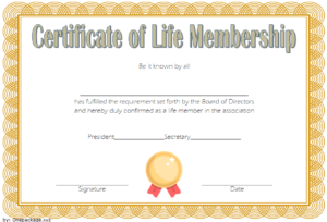 20+ Certificate Of Membership In An Organization Templates Free within Unique Life Membership Certificate Templates