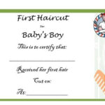 20 Free Baby S First Haircut Certificate Templates With New First Haircut Certificate Printable Free 9 Designs