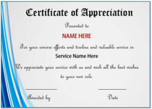 20+ Free Certificates Of Appreciation For Employee Templates within Employee Appreciation Certificate Template