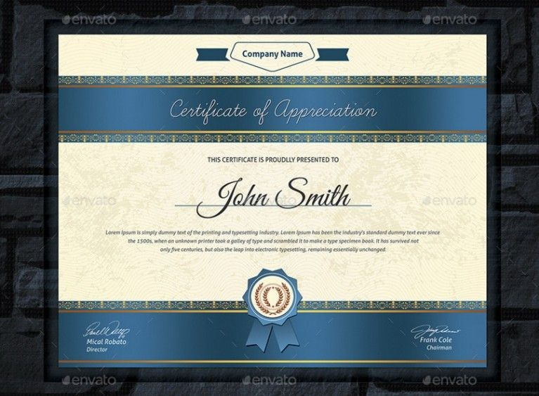 20+ Professional Certificate Template Psd, Indesign And Eps for Indesign Certificate Template