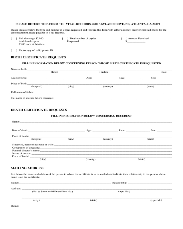 2021 Birth Certificate Form - Fillable, Printable Pdf intended for Fillable Birth Certificate Template