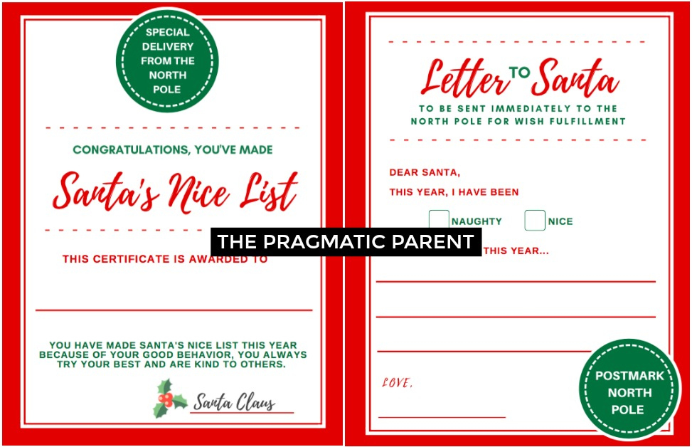 2021 Printable Letter To Santa & Certificate For Making throughout Santas Nice List Certificate Template Free