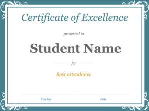 22 Best Free & Premium Google Docs Certificate Template throughout Fresh Free Student Certificate Templates