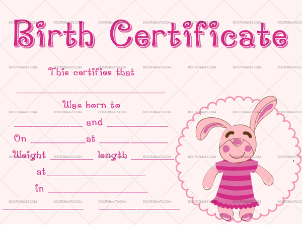 22+ Birth Certificate Templates - Editable & Printable Designs regarding Pet Birth Certificate Templates Fillable