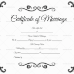 22+ Editable Marriage Certificate Templates (Word And Pdf Intended For Marriage Certificate Editable Templates