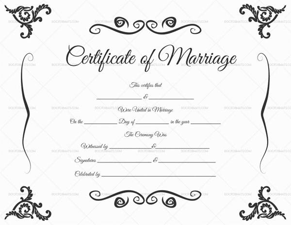 22+ Editable Marriage Certificate Templates (Word And Pdf pertaining to Marriage Certificate Editable Template